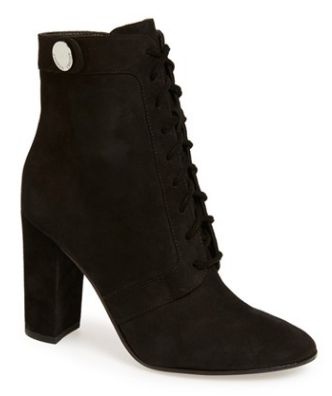 soft suede lace up boot