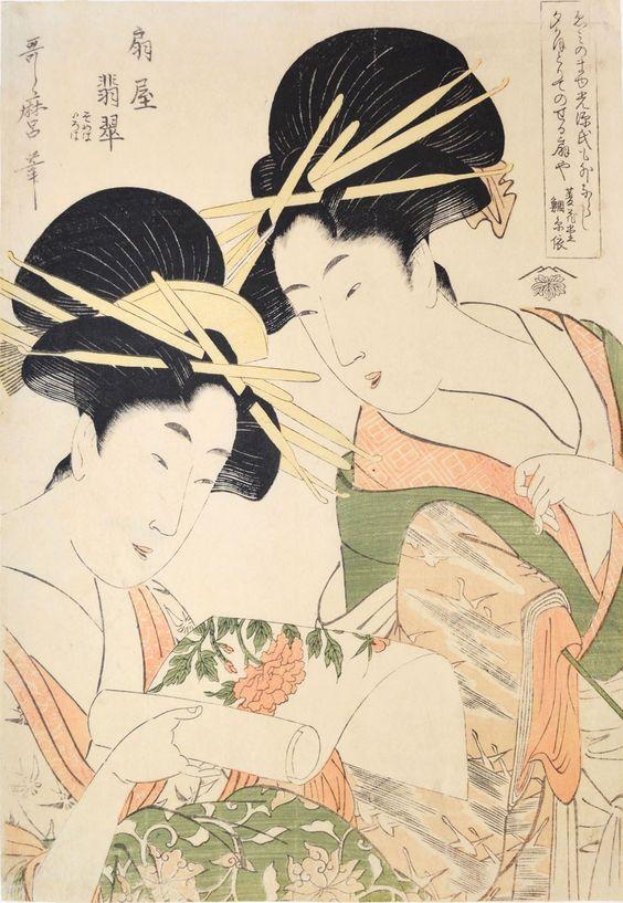 'Courtesan Hisui from Ogiya' Utamaro(1753-1806)