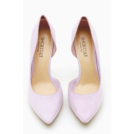 Ella Pump - Lavender ($34) ❤ liked on Polyvore featuring shoes, pumps, heels, lilac, high heel platform shoes, pointed toe pumps, platform shoes, pointed toe platform pumps and high heel platform pumps