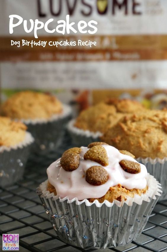 Cool Pupcakes Dog Treats Recipe Dog Cake Recipes Birthday Dog Personalised Birthday Cards Akebfashionlily Jamesorg