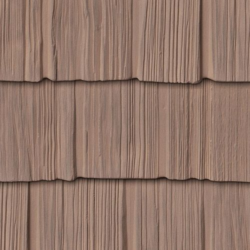 Foundry 7 Inch Staggered Shake In Rustic Brown 828 Vinyl Shake Siding Shake Siding Vinyl Shingle Siding