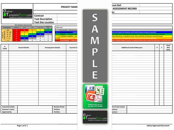 Method Statement Risk Assessment – Health and Safety Method Statement Template