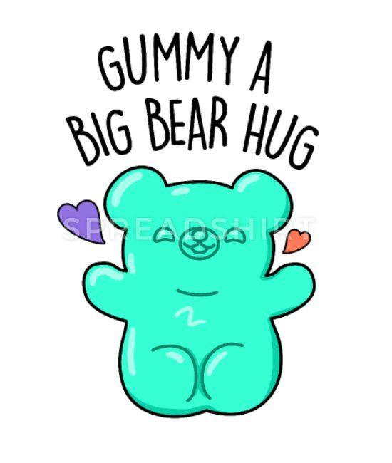 Gummy A Big Bear Hug Cute Candy Gummy Bear Pun Ankle Socks Spreadshirt Cute Puns Funny Food Puns Bear Puns