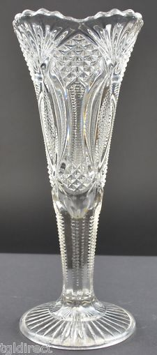 "MacBeth-Evans Glass Patterns | Macbeth-Evans Diamond Dart Stippled Black Opaque Glass Vase 8""Tall ..."