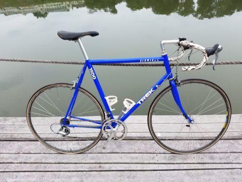 Trek 1500 Aluminum Racing Road Bike Blue Shimano 600 Made In The Usa Roadbike Road Racing Bike Racing Road Bike