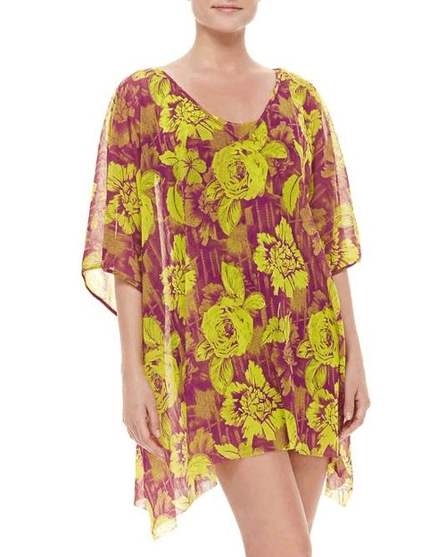 Love the Jean Paul Gaultier Floral-Print Sheer Coverup on Wantering.