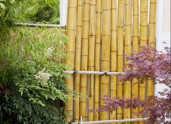 Cerca de bamb para el jard n o terraza - Bambu para jardin ...