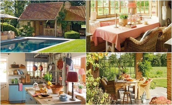 domek na wsi, wnętrza, dom, wystrój wnętrz, styl wiejski, styl rustykalny