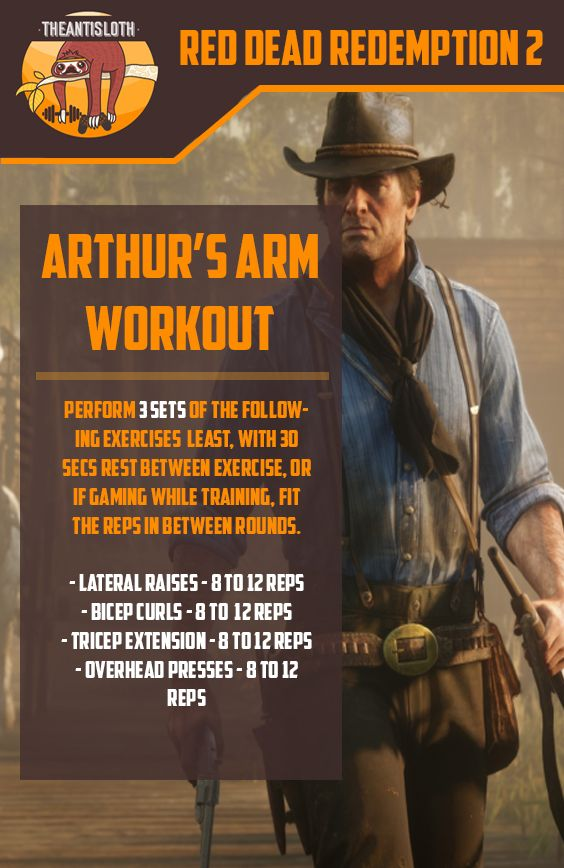 Rdr2 Arthur Morgan S Arm Workout Beginner Arm Workout Workout Workout For Beginners