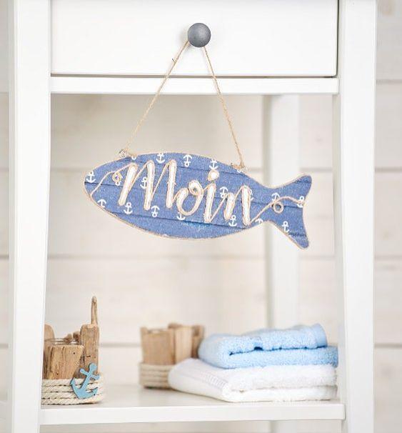 Moin Maritim Deko Fisch Fische Holzfisch Maritimedeko