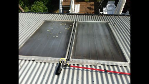 Cleaning solar panels today! Working well now the Lichen has gone.