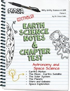 Earth Science Notes & Chapter Test - Astronomy and Space Science