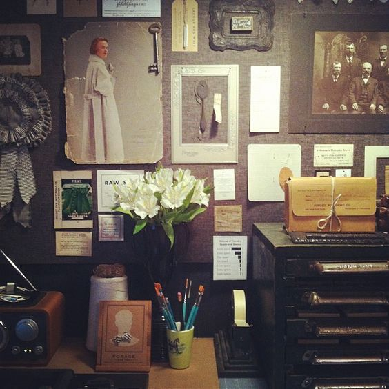 inspiration wall by seed house stationers/somethings hiding in here, via Flickr