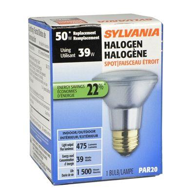Sylvania Halogen Light Bulbs: Sylvania Halogen 39-Watt Par20 Medium Base (E-26) Base Bright White  Dimmable Indoor/Outdoor Halogen Spotlight Bulb | *Lighting > Flood Lights*  | Pinterest ...,Lighting