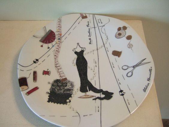 Dscf4966 porcelaine decoration pinterest costura - Peindre sur verre 100 modeles originaux ...