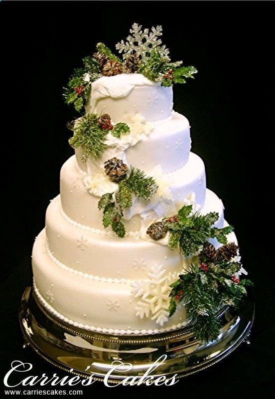 39 Fabulous Winter Wedding Cakes For Your Wedding Chicwedd Christmas Wedding Cakes Winter Wedding Cake Winter Cake