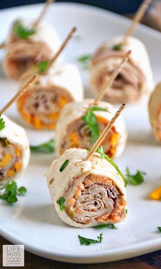 Cheap Party Food Ideas | Turkey Taco Roll Up Bites | DIY Projects & Crafts by DIY JOY at http://diyjoy.com/best-diy-party-food-ideas