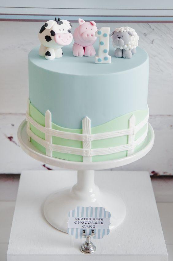 decoracion tarta fiesta infantil granja