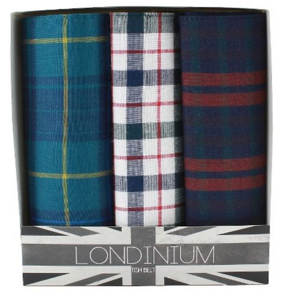 Plaid Handkerchief Set