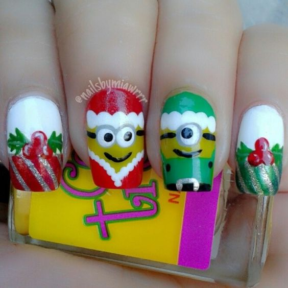minions christmas by nailsbymiawrrr #nail #nails #nailart ...