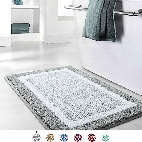 Color Geometry Bathroom Rug Mat Ultra Soft And Water Absorbent Bath Rug Bath Carpet Machin In 2020 Bathroom Rugs Bath Mat Rug Gray Bath Rug