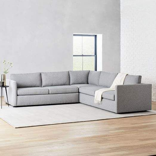 Harris 3 Piece L Shaped Sectional Corner Sectional Sectional Oversized Furniture