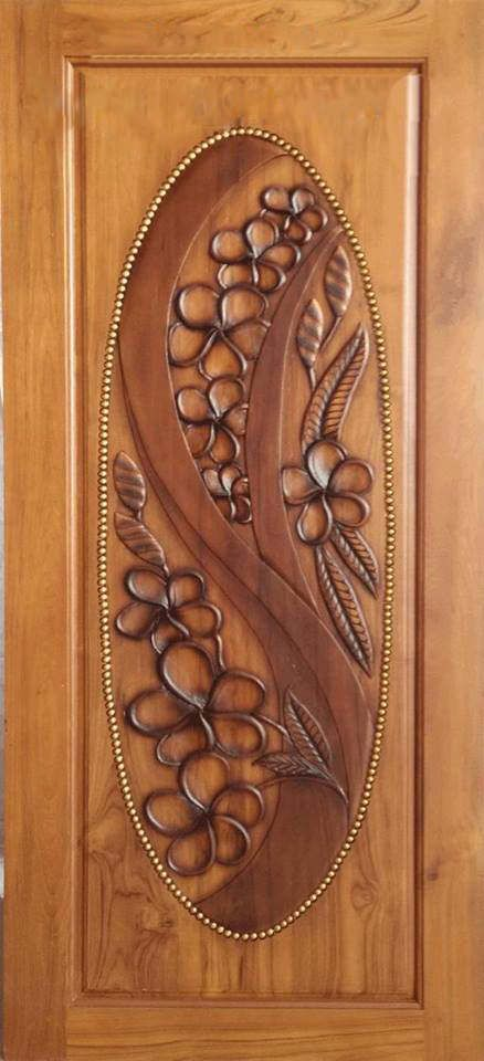 Carved Teak Wood Interior Exterior Entry Entrance Front French Doors Design With Flowers Single Door Design Door Design Wood Wood Doors Interior