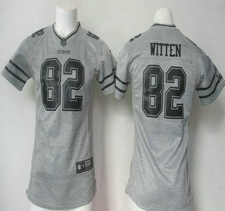 c449547e7 ... womens dallas cowboys jersey 82 jason witten nike gray gridiron 2015 nfl  gray ...