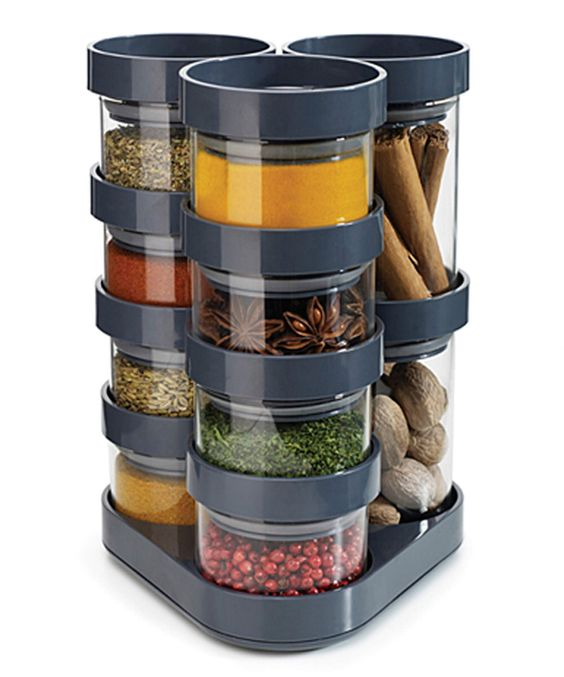 Look at this Gray 10-Piece Spice Carousel on #zulily today!