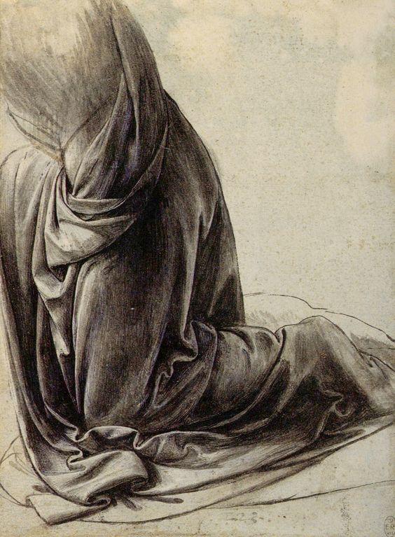 Leonardo Da Vinci. Estudio de ropajes