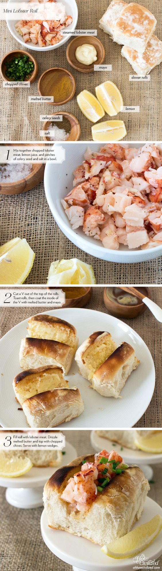 Lobster rolls, Lobsters and Tea sandwiches on Pinterest
