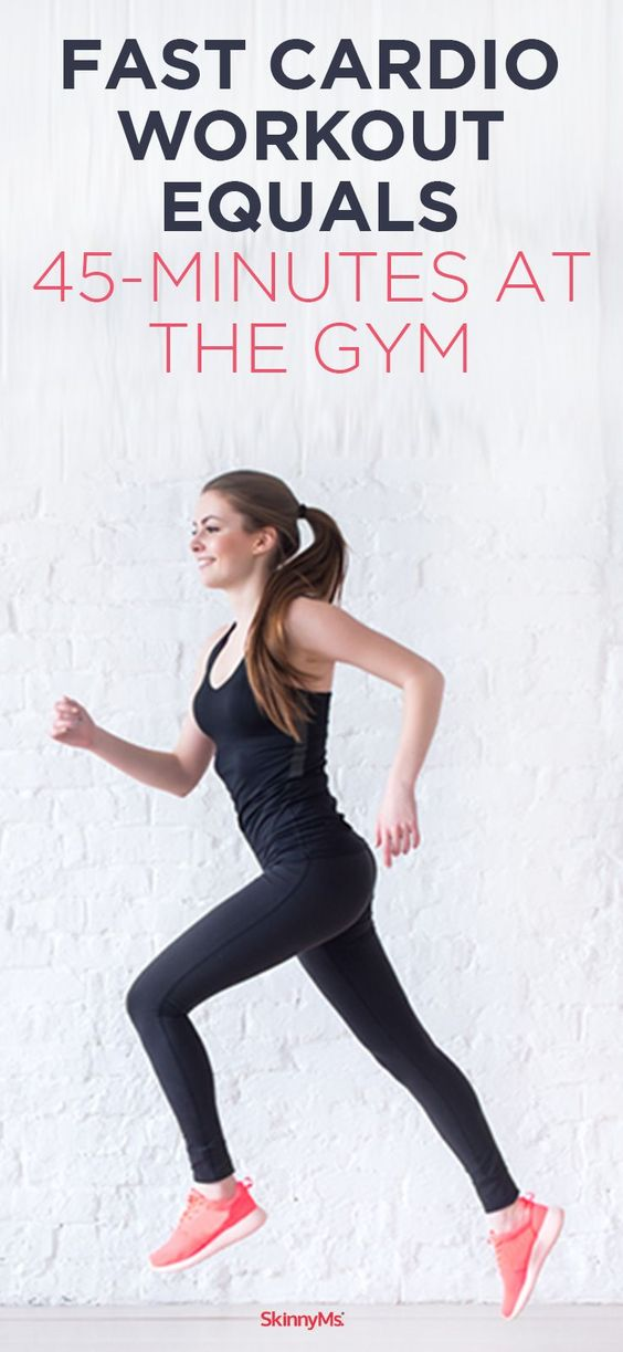 Work smarter, not harder! Get faster results wit this 10 Minute Fast Cardio Workout. It would take 45 minutes at the gym to burn the same amount of calories!