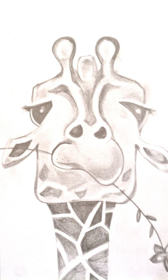 Girafes, Dessin de girafe and Croquis d'animaux on Pinterest