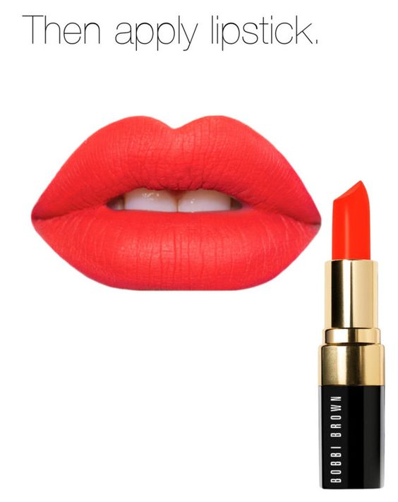 """""""Red lips part 2"""" by soccerlover19 ❤ liked on Polyvore featuring beleza, Bobbi Brown Cosmetics e Lime Crime"""