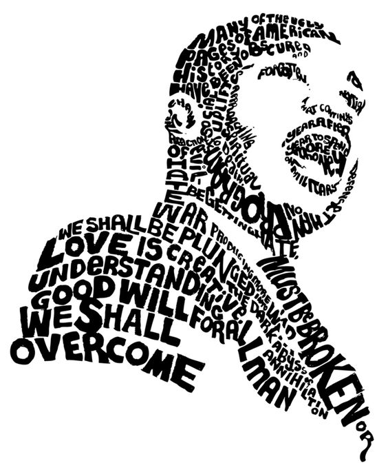 Clip Art Mlk Clipart more than just a day off remembering martin luther king jr the use of different weights typefaces styles and kerning helps to achieve this image mlk only