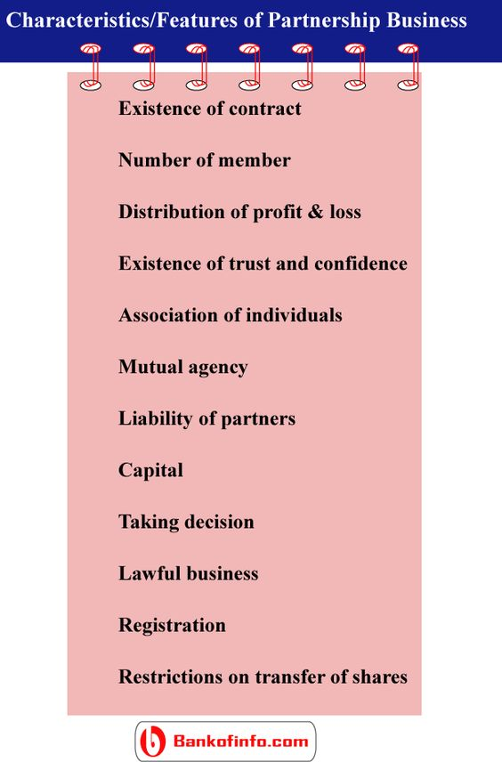 Characteristics of partnership business Business Pinterest - mutual business agreement