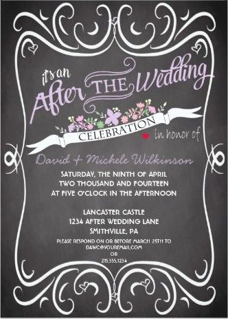 """At-Home"" Reception Invitations for the celebration after your destination wedding"