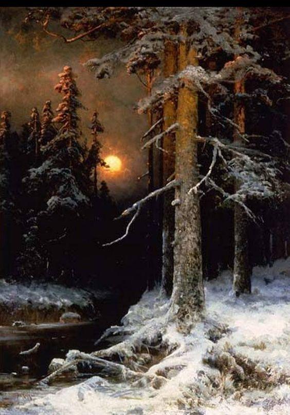 Clair de lune en forêt