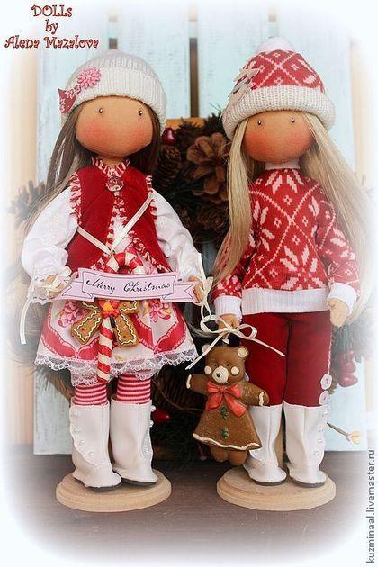Человечки ручной работы. Ярмарка Мастеров - ручная работа. Купить Merry Christmas.... Handmade. Ярко-красный, интерьерная кукла, трикотаж