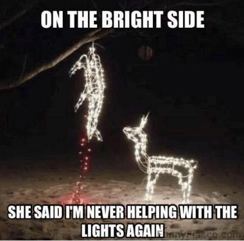 Christmas Lights Christmas Memes Funny Hunting Humor Funny Quotes