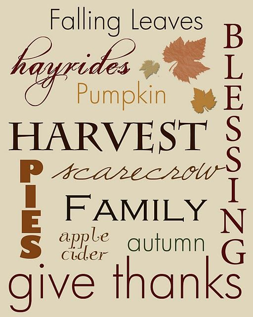 Autumn free printable: