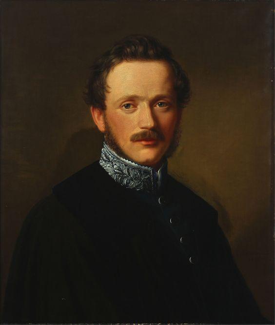 Karl Jakob Theodor Leybold - Porträt des Friedrich Freiherr von Koenig-Warthausen (1837)