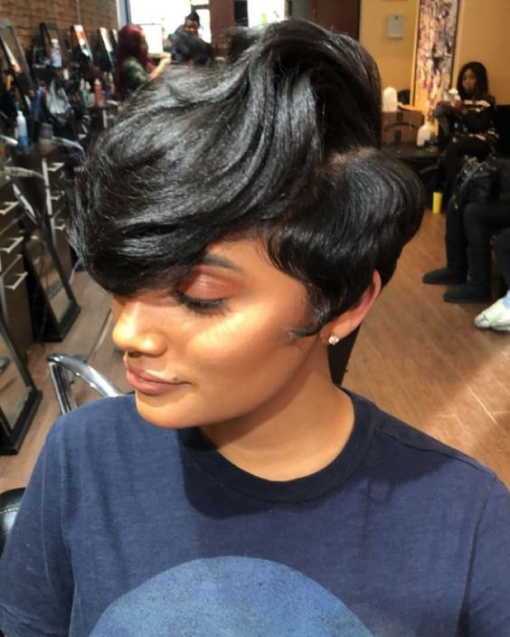 Pin By Stella Ndong Etogo On Wigs For Black Women Short Hair Styles Hair Styles Sassy Hair
