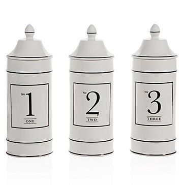 Ceramic Number Canisters. $19.95 at Z Gallerie.