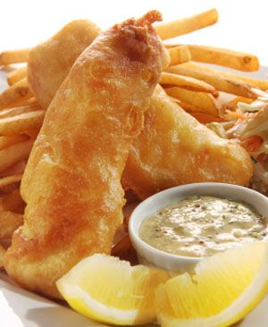 The best fish and chips recipe deep fried fish eggs for Light batter for fish