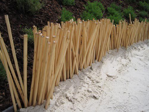 Am nagement du jardin des id es de bordures for Bordure de jardin en bambou