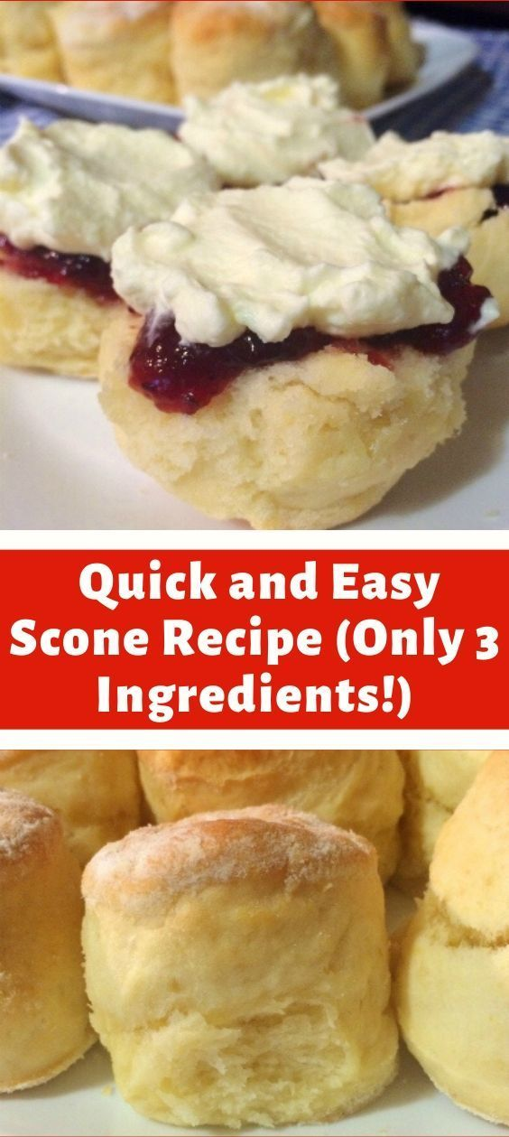 Ingredients 3 Cups 450g Of Self Raising Flour 1 Cup Of Thickened Cream Heavy Cream Easy Ingredients Quick Scones Recipe Easy Scone Recipe Scones Easy
