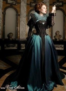 blue gown elizabethan-gown teal