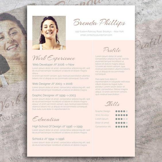 Cv Design Pack Cv Design Modern Resume Design Resume Design Template