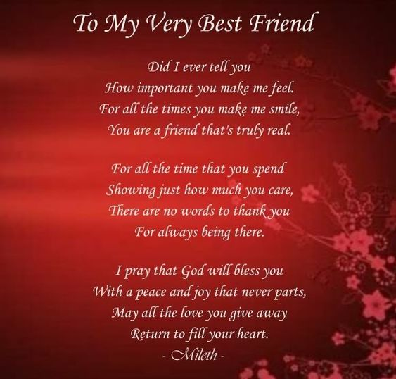 cute poems for your best friend my best friend poems friendship to my best friend 17204